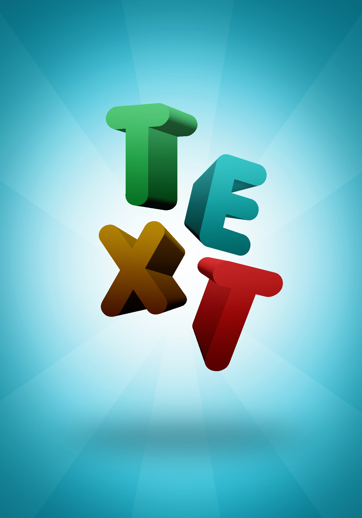 3d text tutorials junction colorful 3d text effect in photoshop cs6 cc baditri Gallery